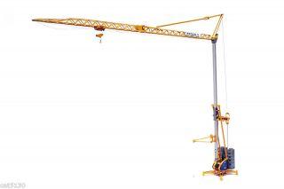 Potain Yellow IGO Tower Crane Diecast Model 1/50 Collectible Machinery