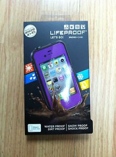NEW Lifeproof iPhone 4/4S Case Purple & Black New In Box Life proof