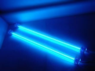 BLUE 12 DUAL COLD CATHODE LIGHT KIT CCFL ULTRA BRIGHT PC COMPUTER