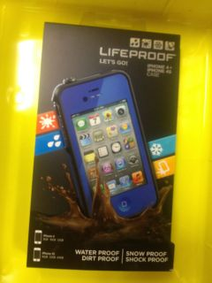 NEW Lifeproof iPhone 4/4S Case Blue New In Box Life proof case Brand