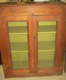 ANTIQUE PIE SAFE/JELLY CABINET/CUPBOA​RD CHICKEN WIRE