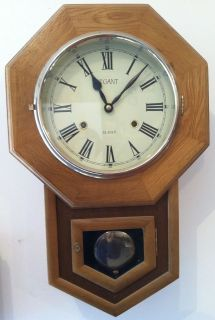 VINTAGE 31 DAY LEGANT REGULATOR CLOCK ~ CHIME PENDULUM CLOCK
