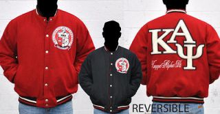 KAPPA ALPHA PSI RED BLACK Jacket Coat L 6X REVERSABLE NUPE COAT KAPPA
