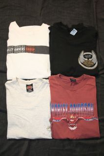 Mens Harley Davidson T Shirts   Large (Including 105th Anniversary