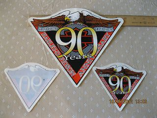 Collectible Harley Davidson 90th Anniversary Decals, set of 3, 1903