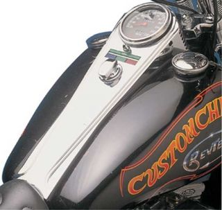 MIRAGE LONG DASH FOR HARLEY SOFTAIL FATBOB TANK 68 95 CHROME PLATED