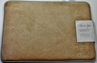 Bath Mat Memory Foam 17 x 24 Classic Spa Collection Non Skid Quick
