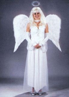 LARGE FEATHER ANGEL WINGS WHITE OR BLACK COSTUMES​ COSPLAY CHURC​H