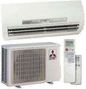 9,000 BTU 26 Seer Mitsubishi Single Zone Mini Split Heat Pump System