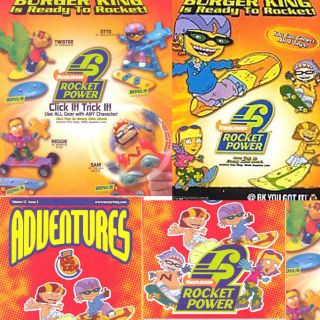 Burger King Rocket Power 4 toy 2002 New Cake Decoration Reggie Otto