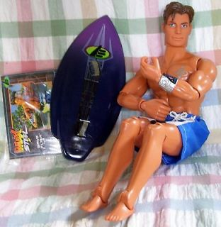 MAX STEEL Wave Flier Doll Action Figure Toy & Some Accessories 2001