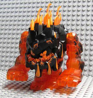 NEW Lego Power Miners Trans Orange Rock LAVA MONSTER Huge Eruptorr