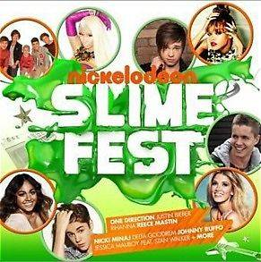 NICKELODEON SLIME FEST 2012 (NEW CD) ONE DIRECTION   JUSTIN BIEBER