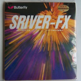 Butterfly Table Tennis Rubber w/Sponge, Sriver FX, Pips in, New
