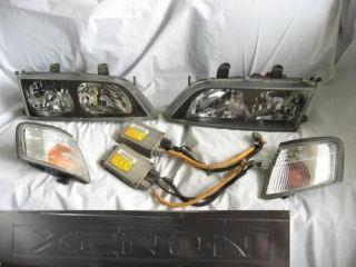 HID XENON Headlights OEM Nissan Primera JDM Infiniti P11 G20 Black