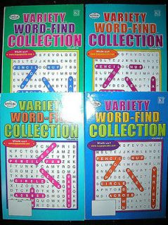 WORD FIND COLLECTION Puzzle Books SEEK SEARCH PUZZLES NEW Kappa