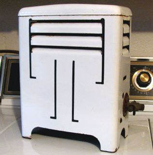 Vintage ART DECO ENAMEL WARE GAS SPACE HEATER Graniteware