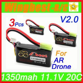 1350mah 11.1V 20C LIPO li po battery,Parrot AR Drone AR.Spare Upgrade
