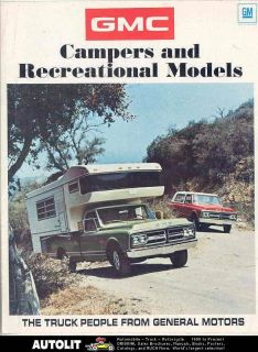 1971 GMC Pickup Camper Travel Trailer Brochure