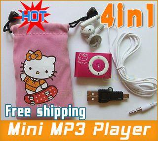 HOT Hello Kitty  Player USB Earphone TF CARD holiday Christmas GIFT