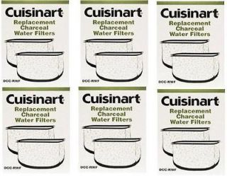 CUISINART DCC RWF 6 boxes CHARCOAL WATER FILTERS 12 sets