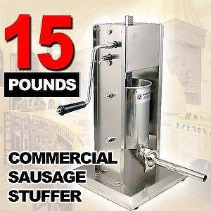 New MTN Stainless Steel Commercial Restaurant Sausage Stuffer   15Lbs