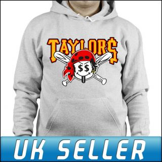 Taylor Pirates Wiz Khalifa Gang Grey Hoodie Top Hoody Adults