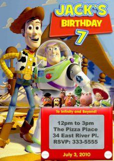 TOY STORY BUZZ LIGHTYEAR BIRTHDAY PARTY INVITATIONS