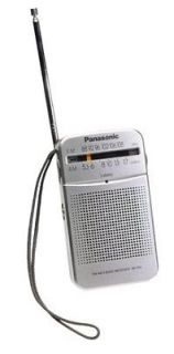 Panasonic RF P50 Pocket AM/FM Radio   Silver   Free Shipping!