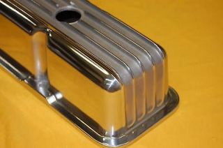 Block Chevy Polished Aluminum Valve Covers Tall Finned 350 383 305