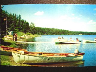 Greetings from Pembine WI Boating Fun & Vintage Travel Trailer
