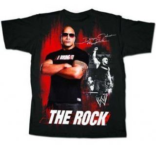 wwe the rock t shirts in Clothing,