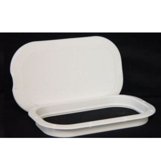 INNOVATIVE 9X14 POLAR WHITE BOAT DECK PLATE hatch