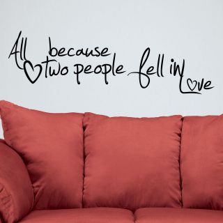 all because two people fell in love in Home Decor