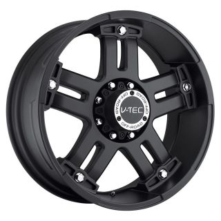 17 inch V tec Warlord Black wheels rims 8x6.5  12 / Dodge RAM 2500