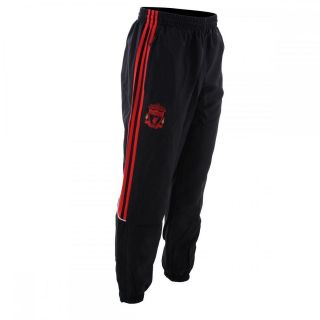 FC Adidas Black Woven Football Presentation Tracksuit Pant Bottoms