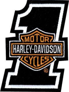HARLEY DAVIDSON NUMBER 1 BAR & SHIELD VEST PATCH *NIP* MADE IN USA *