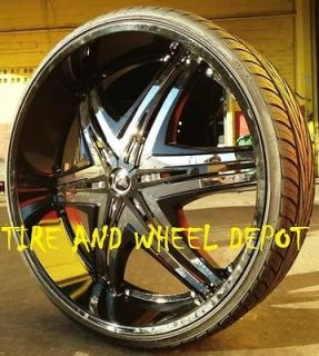 28 INCH DIABLO ELITE B RIMS AND TIRES GRAND MARQUIS EXPLORER CHARGER
