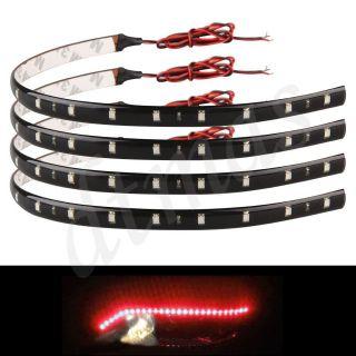 4x 30cm Red 15 LED Car Trucks Motor Grill Flexible Waterproof Light