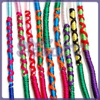 GIRLS TWISTED FRIENDSHIP BRACELETS MIXED DESIGNS 9PCS