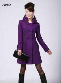 purple trench coat in Coats & Jackets