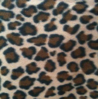 Tan, Brown, Black Leopard Spots Animal Fleece Fabric
