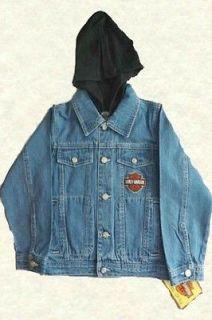 Harley Davidson Boys Kids Denim Jacket Apparel OuterWear Coats Unisex