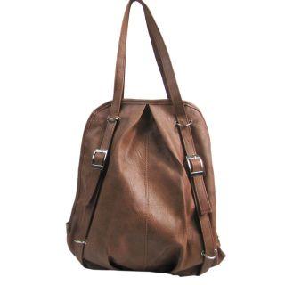New PU Leather Backpack Shoulder Bag Vintage Handbag School Girl Book