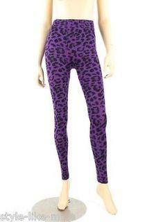 leopard print spandex leggings in Leggings