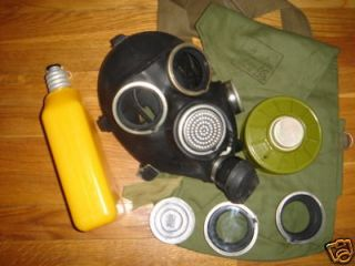 Russian USSR millitary black rubber gas mask GP 7V