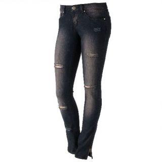 Abbey Dawn Avril Lavigne Black Distressed Skinny Jeans