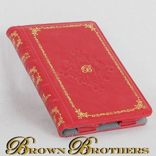 RED ANTIQUE LEATHER BOOK CASE COVER FOR  KINDLE 4 WIFI GENUINE