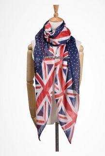UK Flag Print Scarf Womens Ladies Fashion Look Union Jack New Fashion