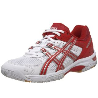 ASICS Gel Rocket 5 Volleyball Shoes RED White Sneakers Womens New NIB